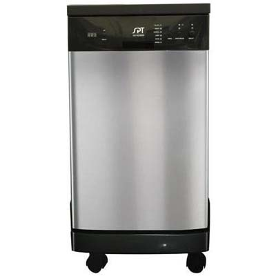 "SPT: SD-9241SS18"" Portable Stainless Steel Dishwasher"