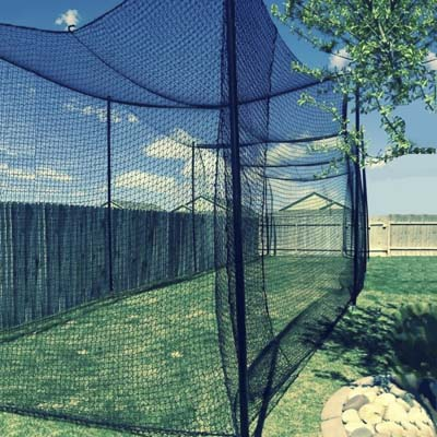 9. 40' Long X 10' Wide X 10' High Batting Cage Net, #36 Polypro Netting from Gourock