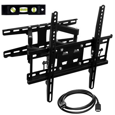 3. Mount-It! 115lbs Capacity Corner TV Wall Mount Bracket