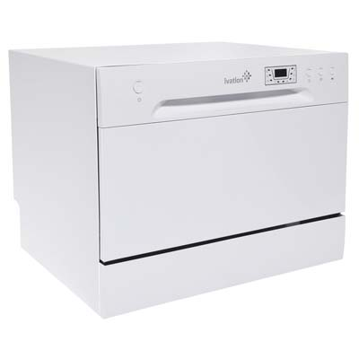 Ivation Small Compact Dishwasher – White
