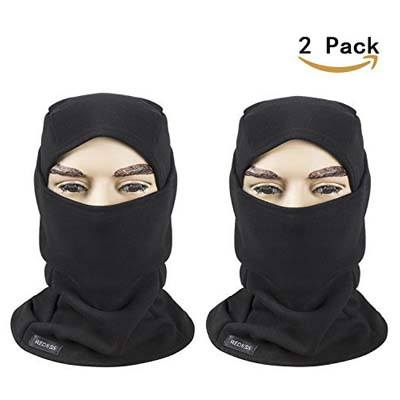 9. REDESS Fleece Lined Face Mask, Tactical Balaclava Hood and Thermal Motorcycle Neck Warmer