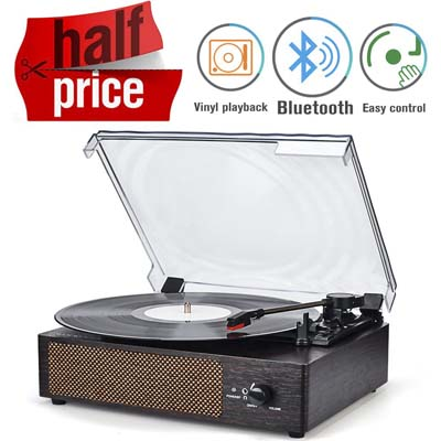 2. Record Player Portable Bluetooth Review