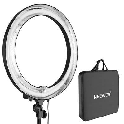 "Neewer 18"" Outer 14"" Inner Un-dimmable Fluorescent Ring Light"