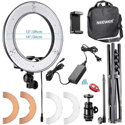 "Neewer RL-12 LED Ring Light 14"" outer/12 on Center"