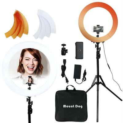 "MOUNTDOG 18""/48cm LED Ring Light 55W 5500K Kit"
