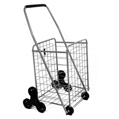 1.Helping Hand Deluxe Stair Climber Cart in Silver