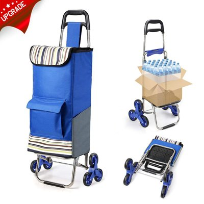5. 2019 Upgraded Folding Shopping Cart Stair Climbing Cart